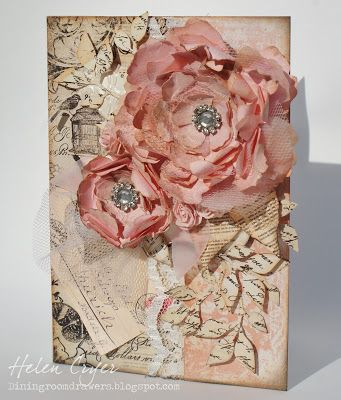 The Dining Room Drawers: Tattered Florals Card