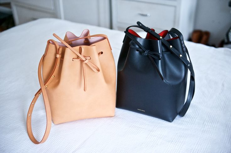 Mansur Gavriel black bucket bag