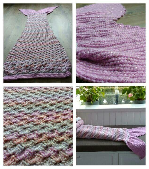 gehaakte zeemeermin-deken / crochet mermaid tail