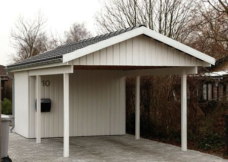 Garage mit carport satteldach  22 best Carport images on Pinterest | Garage, Carriage house and ...