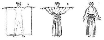 La túnica tal y como la conocemos aparece en la Antigua Grecia a partir de un trozo rectangular de tela que se pone en forma de túnica y así nace una pieza fundamental en la historia de la indumentaria marca tanto la indumentaria occidental como la oriental.