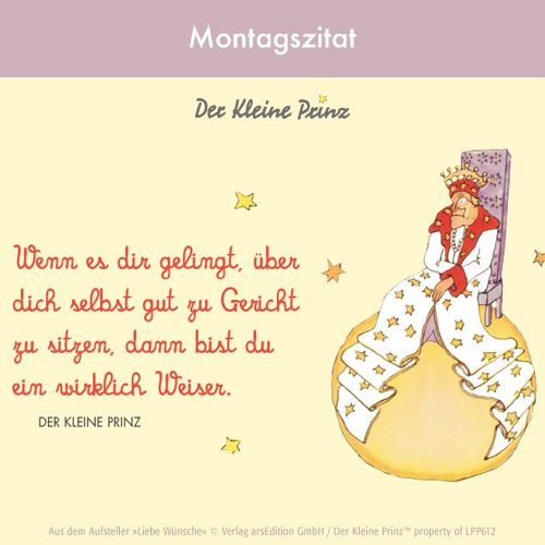 Der kleine Prinz Montagszitat @arsEdition