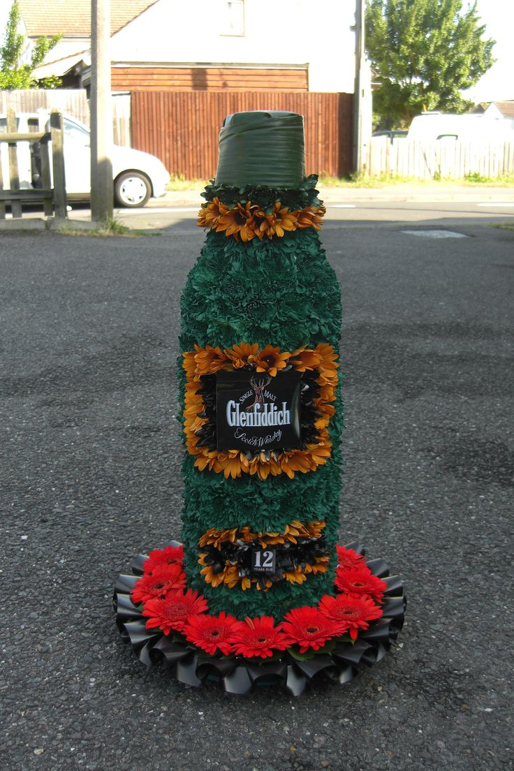8 best bespoke funeral flowers images on pinterest funeral flowers whisky bottle izmirmasajfo Image collections