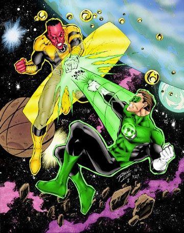 enemigos de linterna verde en combate