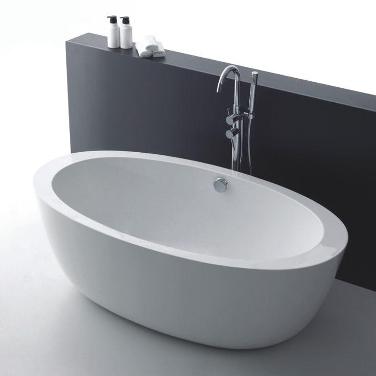 </br>  <p><b>Produktbeskrivelse:</b></p>  <p>Celeste Trapani badekar er en frittstående oval modell i 170 cm lengde. Badekaret leveres med justerbare ben som er skjult under akrylkaret. Badekaret i hvit akryl har høy slitestyrke med en blank overflate som
