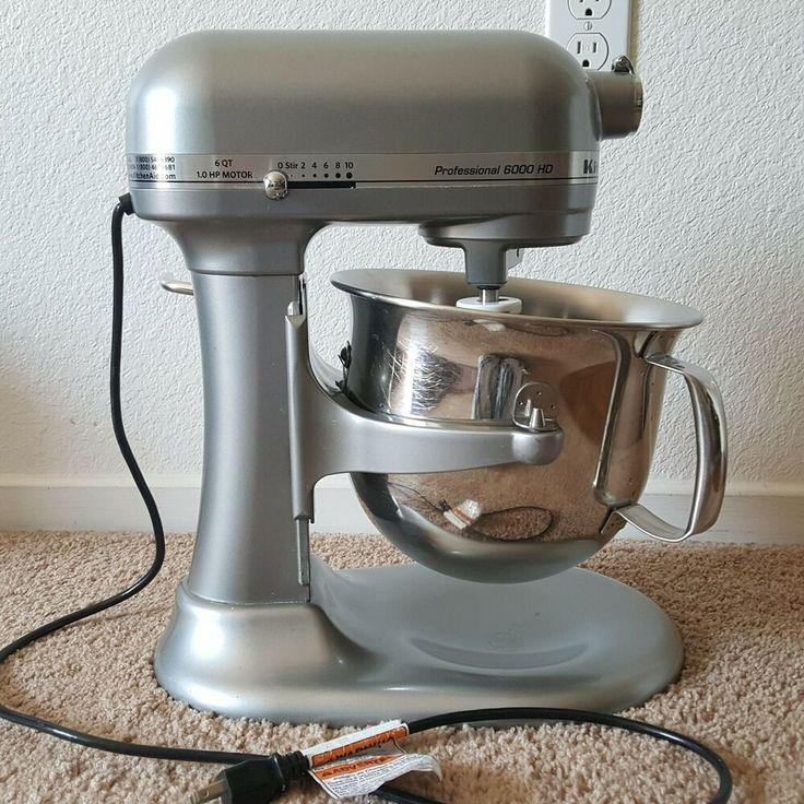 Kitchenaid 6000 hd 600 stand mixer 6quart big silver