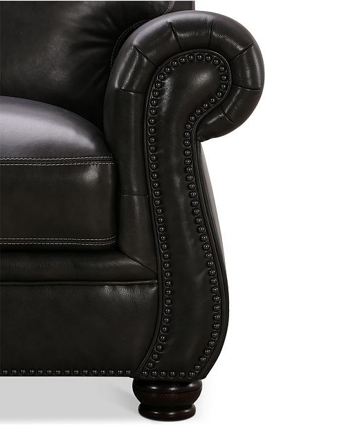 Peachy Roselake 87 Leather Sofa Created For Macys Sofas In 2019 Machost Co Dining Chair Design Ideas Machostcouk