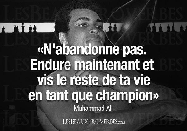 Les Beaux Proverbes – Proverbes, citations et pensées positives » » Muhammad Ali