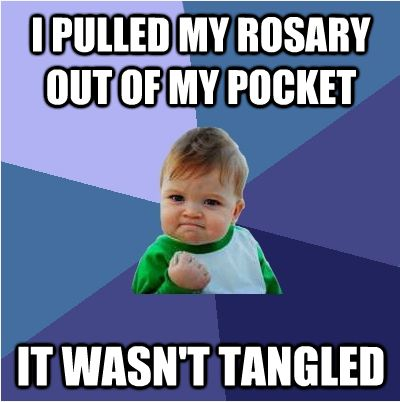 Image result for october month of the rosary catholic meme