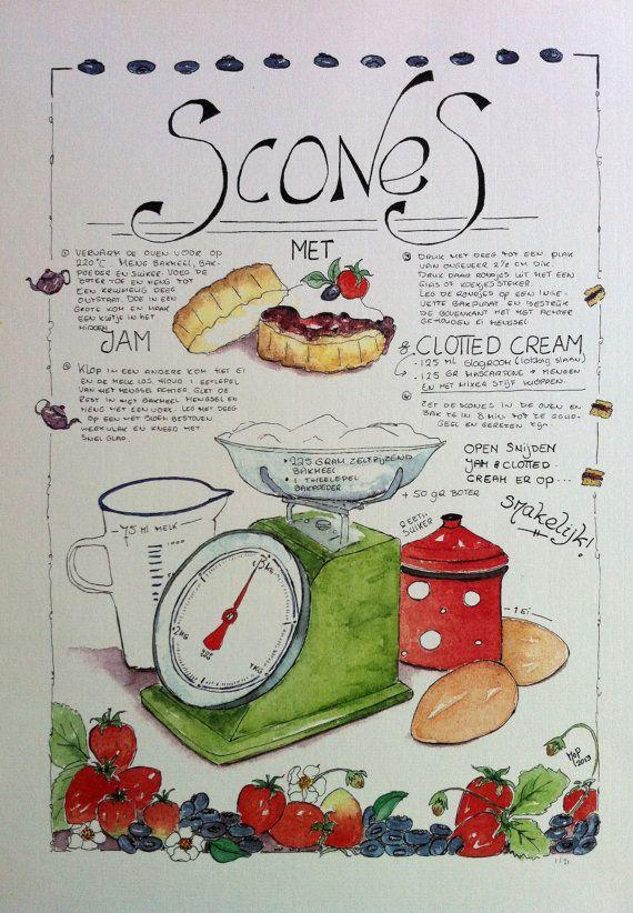 Scones recipe - print