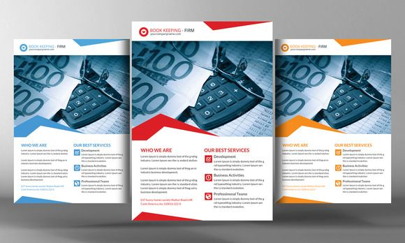 Check out Book Keeping Accounting Service Flye by Corporate Flyers Postcard on Creative Market