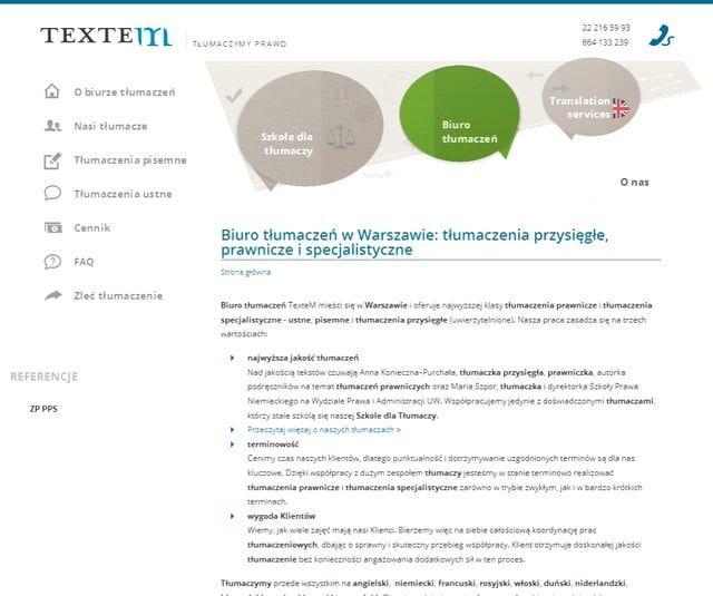 TŁUMACZENIA http://www.textem.com.pl/tlumaczenia