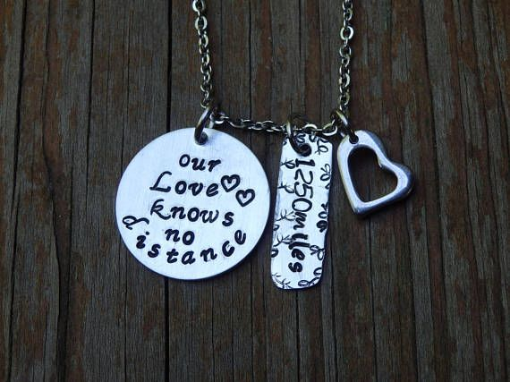 Our Love Knows No Distance Customized Promise necklace