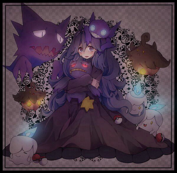 A girl and her Ghost Pokemon