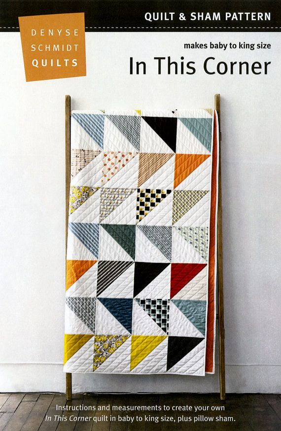 In This Corner Quilt Pattern by Denyse Schmidt Quilts - would like this with different fabrics