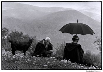 Shepherds with goat, Crete, Greece, 1964 - Greek America FoundaPhotograph by Constantine Manos, Magnum Photographertion;