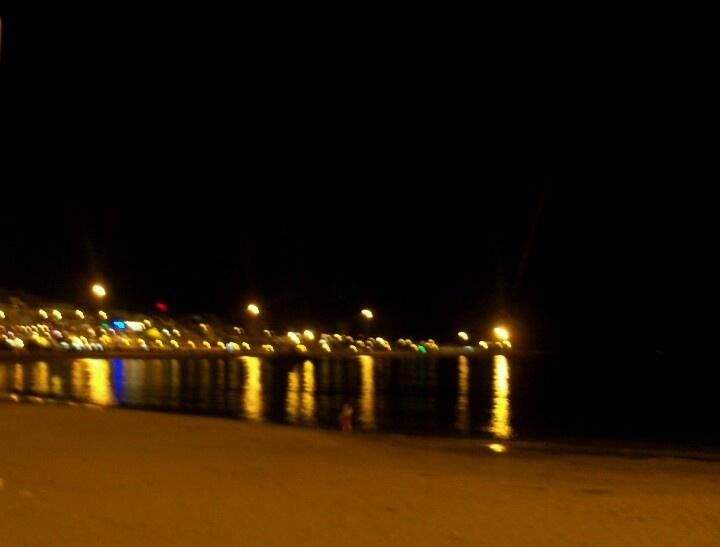 The sea at night!