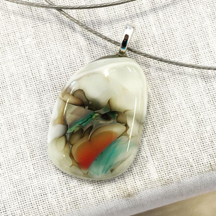 Fused glass - jewellery - pendant