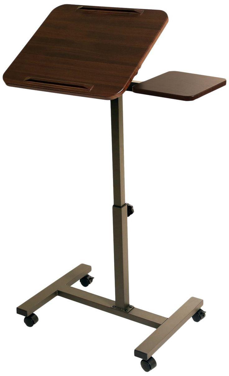Varidesk exec 40 review varidesk pro desk 60 darkwood review workfit t - Seville Classics Sit Stand Desk Cart With Side Table