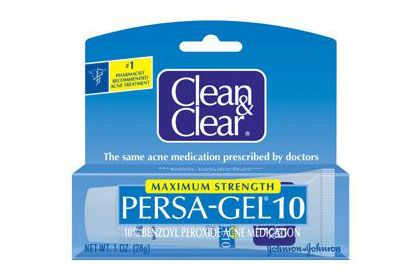 "10 Best Drugstore Acne-Fighting Products: Clean & Clean Persa-Gel 10 $4.86  Readers say this is the ""only on-the-spot treatment"" that makes acne ""completely disappear within a matter of hours (sometimes minutes)."""
