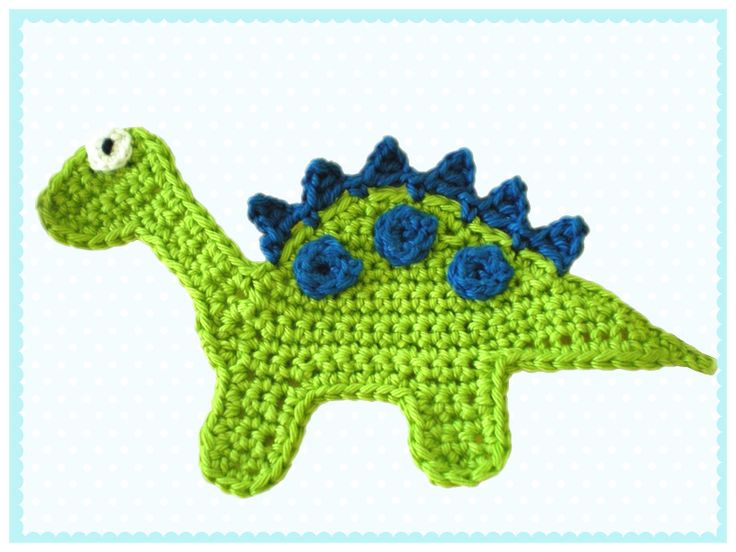 Dinosaur crochet applique
