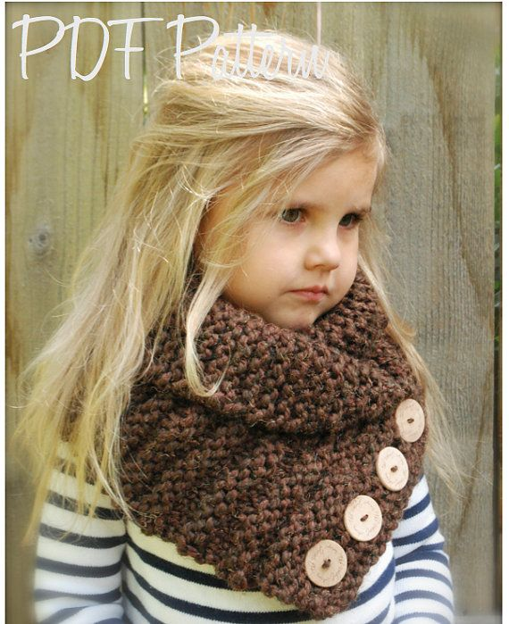 KNITTING PATTERN Ruston Cowl Toddler Child por Thevelvetacorn
