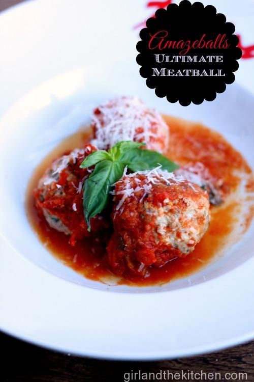 Amaze Balls Meatballs. Girl and the Kitchen.  The ultimate meatball recipe that is not only FREEZER  FRIENDLY...but freezer encouraged!
