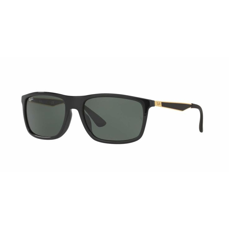 Ray Ban Mens RB4228F 622771 Plastic Rectangle Sunglasses