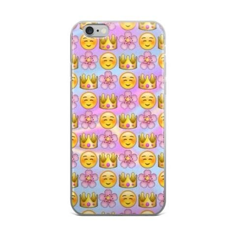 Flower Crown & Blushing Emoji Collage Teen Cute Girly Girls Tie Dye iPhone 4 4s 5 5s 5C 6 6s 6 Plus 6s Plus 7 & 7 Plus Case - JAKKOUTTHEBXX - Flower Crown & Blushing Emoji Collage Teen Cute Girly Girls Tie Dye iPhone 4 4s 5 5s 5C 6 6s 6 Plus 6s Plus 7 & 7 Plus Case iPhone 6 6s 6 Plus Phone Case/Skin - JAKKOU††HEBXX - JAKKOUTTHEBXX