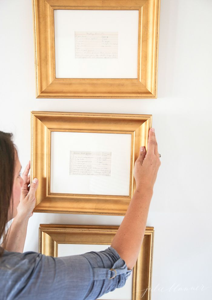 frame recipes from family for instant kitchen art