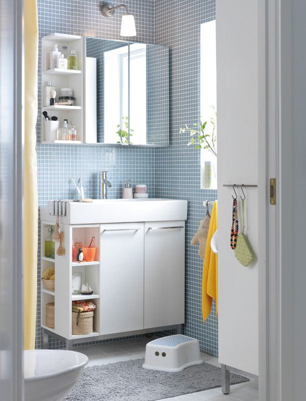More Ikea lillangen, and I also like the light Bathroom Pinterest Love this, Cabinets and