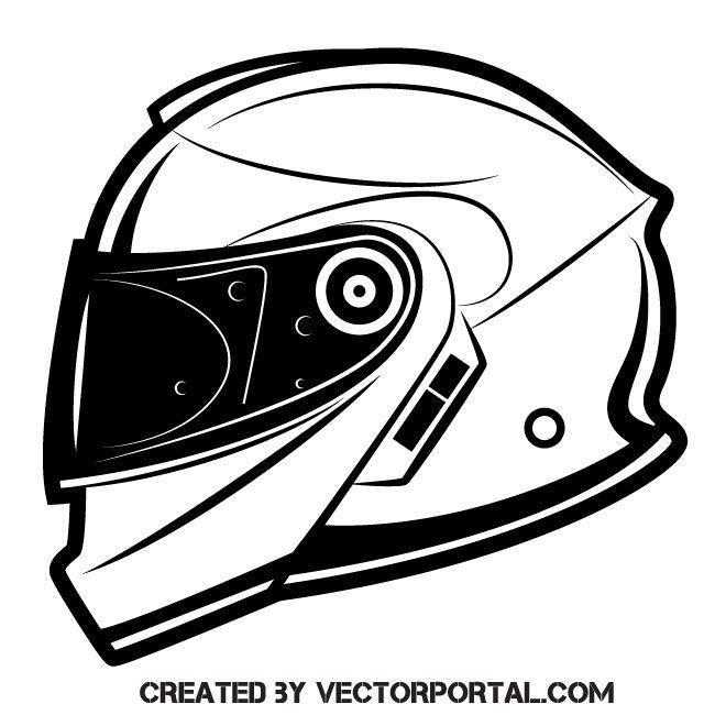 Motorcycle Helmet Vector Clip Art Desain Mobil
