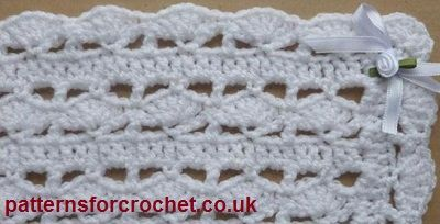 Free baby crochet pattern for head shawl http://patternsforcrochet.co.uk/baby-shawl-usa.html #patternsforcrochet #freebabycrochetpatterns
