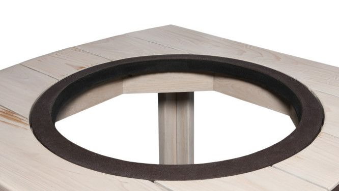 Custom Weber Wood Table With Ring Black White Weber Grill Table