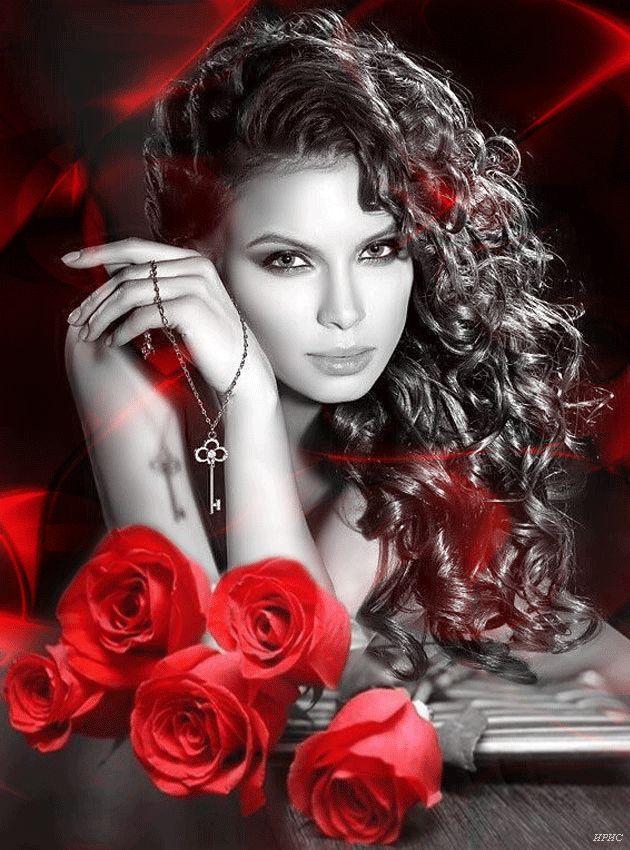 Гифы красивой женщине