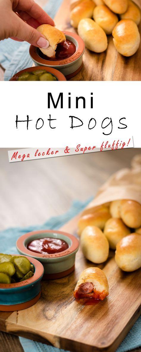 Mini Hot Dogs (Würde ich vielleicht mit verschiedenen Dips machen.)