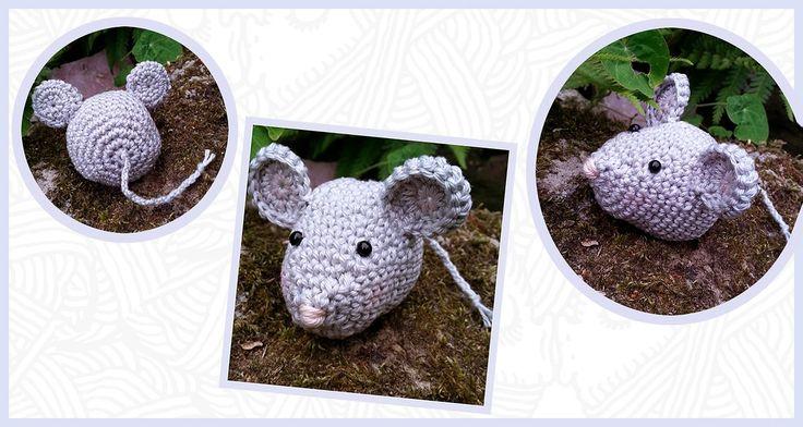 Gratis Nederlands Haakpatroon van een klein muisje. Voor het haakpatroon ga je…