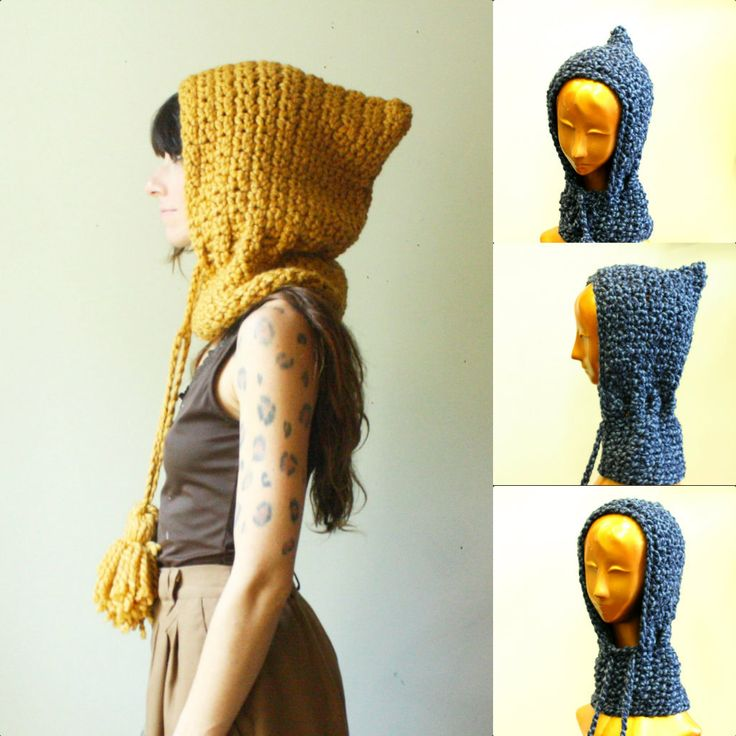 crochet hooded cowl.