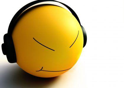 Smiley, poslouchat, hudba, standard, tapety