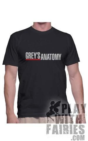 Greys Anatomy Logo Crewneck Short Sleeves Men tee - Playwithfairies