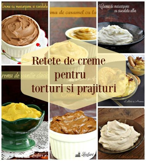7 retete de creme pentru tort, prajituri si desert la pahar. Crema de vanile clasica. Crema fiarte de lapte cu ciocolata. Crema cu mascarpone si ciocolata