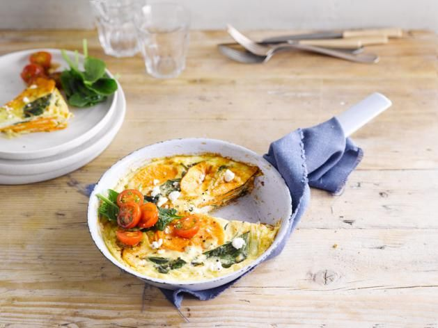 This sweet potato frittata ought-ta be so good with Alpro Coconut Cuisine