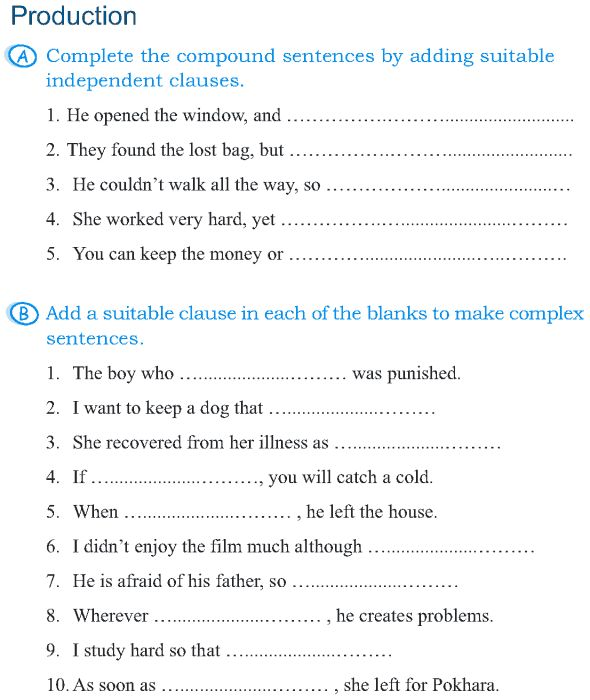 Grade 5 Grammar Lesson 6 Sentences simple, compound and complex