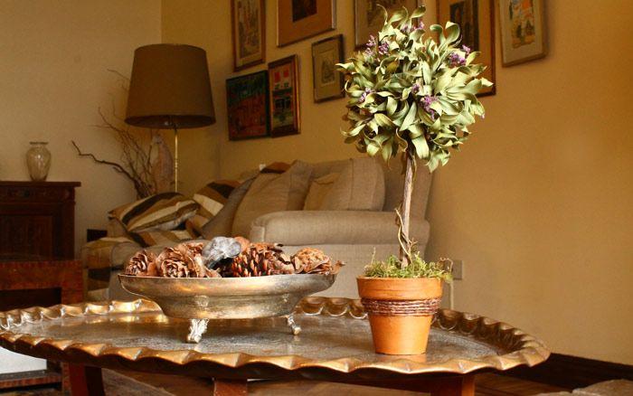 CALISTEMO CHICO Medida: 18cm de alto x 8cm copa Material: Maceta de barro