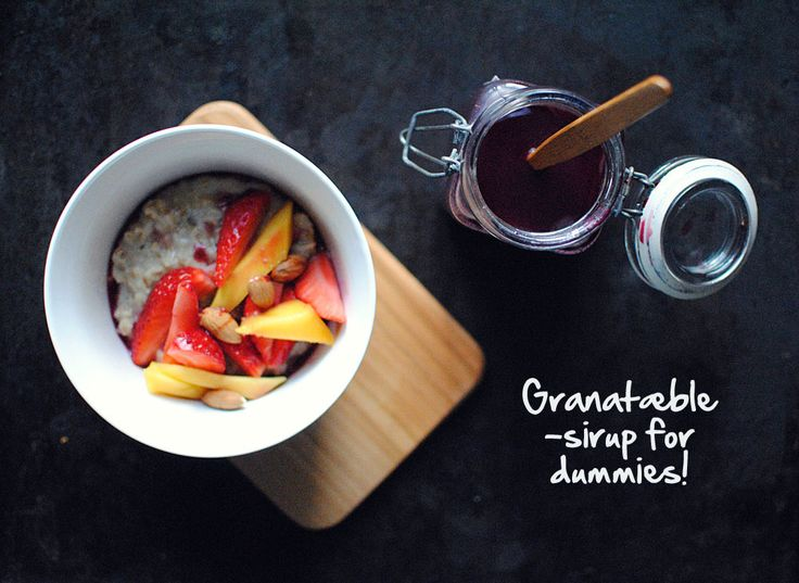 Granatæble-sirup for dummies!