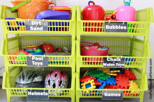 UBH Kiwi Bins for Garage Toy Storage. here's a great post on ...