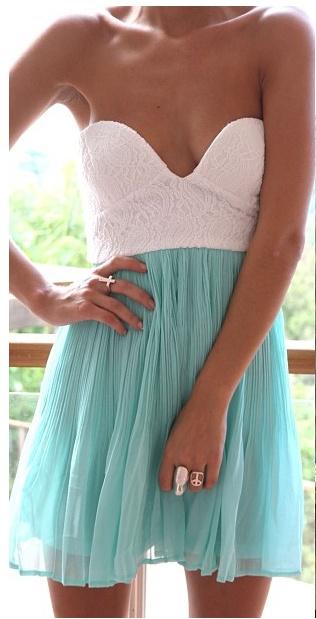 amazingColors Combos, Summer Dresses, Spring Dresses, Style, Blue, Cute Dresses, Tea Dresses, Mint Tea, The Dresses