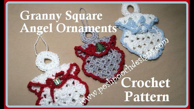 Granny Square Angel Ornament Crochet Pattern