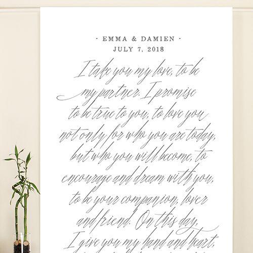 Modern Fairy Tale Personalized Backdrop - Weddingstar