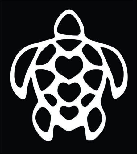 3 Heart turtle tattoo. I'd have to add a heart but this is another cute ink idea